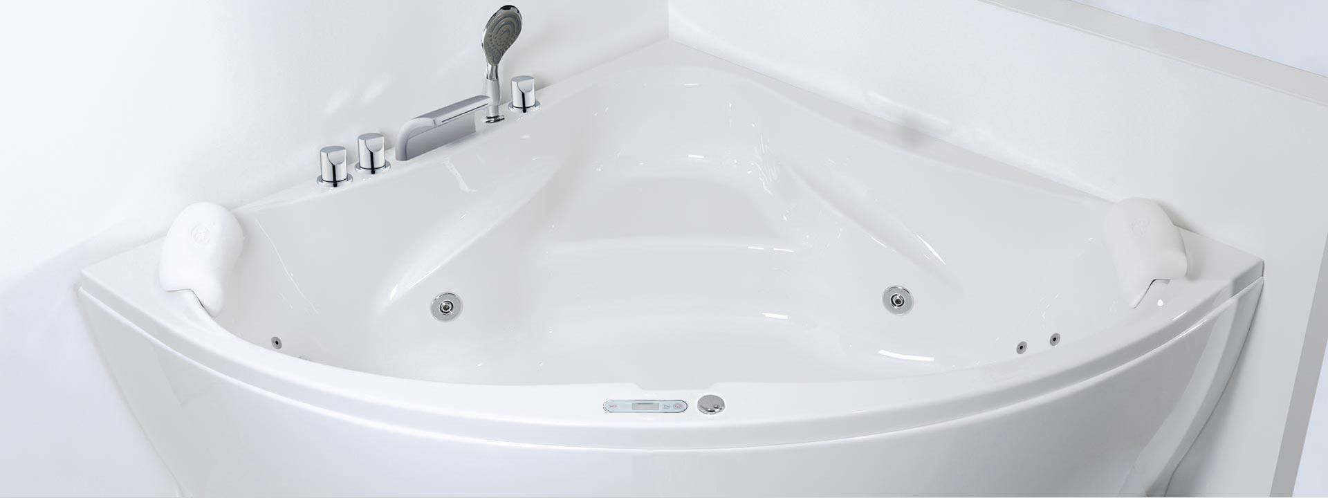 """Ъглова вана с въздушен масаж на най-добра цена """"Scala"""""""